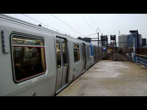 PATH EXCLUSIVE! : Newark Bound Train Of  Brand New PA-5 Cars @ Harrison Station