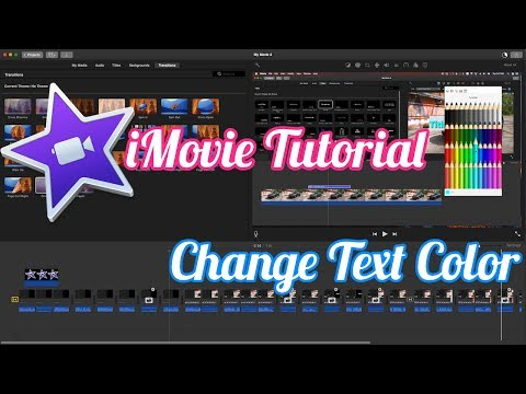 iMovie Tutorial - How To Change Title Text Color