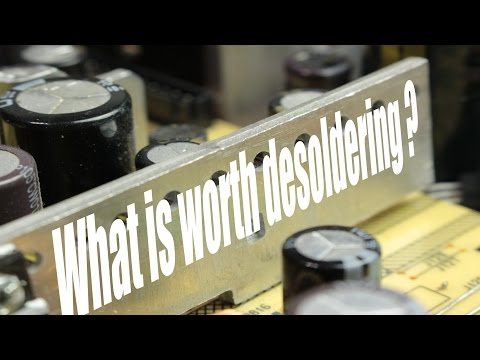 What is worth desoldering from old electronics? || DIY Fume Extractor