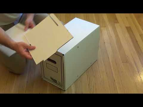 How to Fold and Assemble a Comic Box Drawer