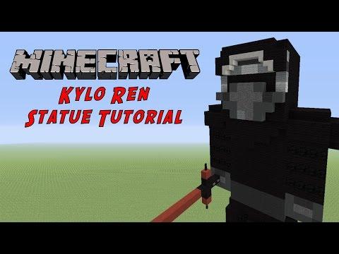 Minecraft Statue Tutorial: Kylo Ren (Star Wars The Force Awakens)