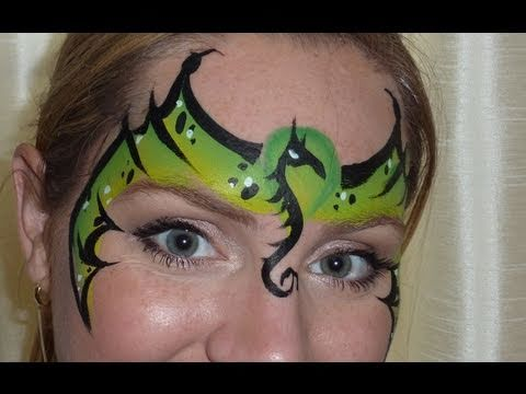Dragon Mask Face Painting Tutorial
