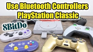 Use DualShock 4 Controllers On The PlayStation Classic! 8Bitdo