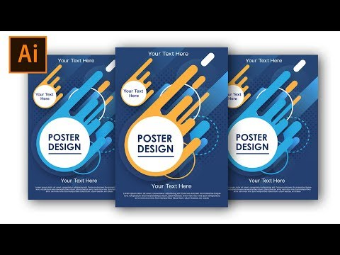 How to Create a Vector Poster Using Adobe Illustrator  #FreeDownload