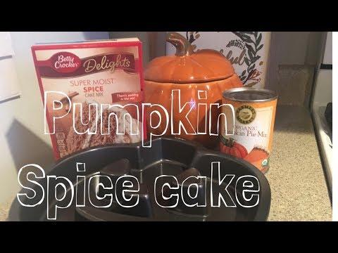 EASY Pumpkin Spice Cake: 2 Ingredients