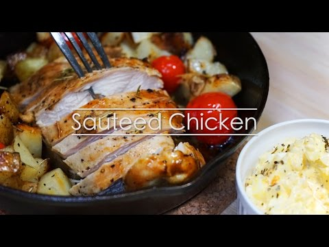 - Cast Iron Cooking -Roasted Chicken Breast (Sauteed Chicken) スキレットでチキンソテー
