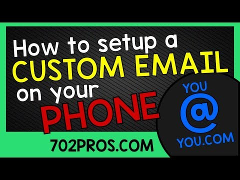 How to setup a custom email on phone