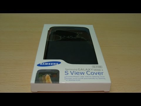 Samsung Galaxy Grand 2 S View Cover Unboxing and Review (INDIA)
