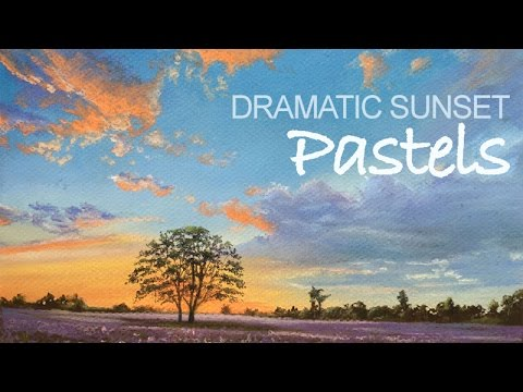 How to Paint a Sunset with Pastels