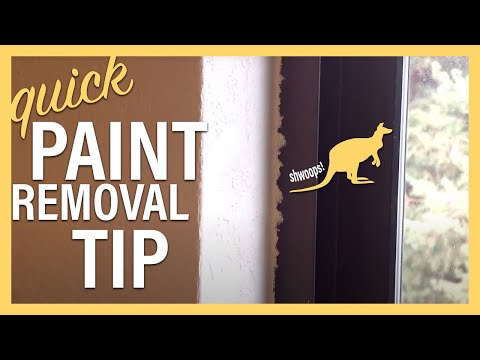 The Best Way To Remove Latex Paint From WIndow Frames - see description