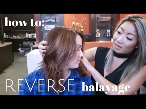 how to do a REVERSE BALAYAGE