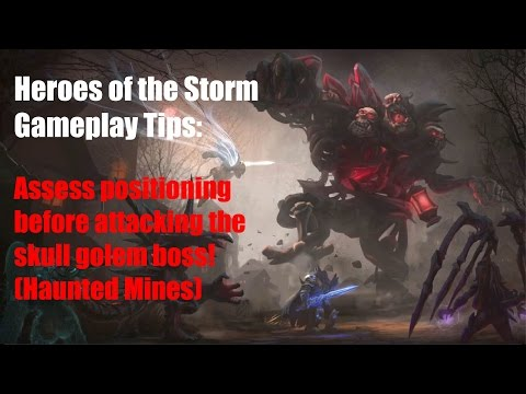 Heroes of the Storm Gameplay Tips - Assess positioning before attacking skull golem boss