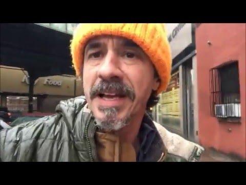 Evicting Behavioral Problems, Dog Eats Chicken Bones on street