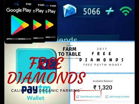 Earn Free PayTm Money n Buy Google Cards n buy Mobile Legends Diamonds