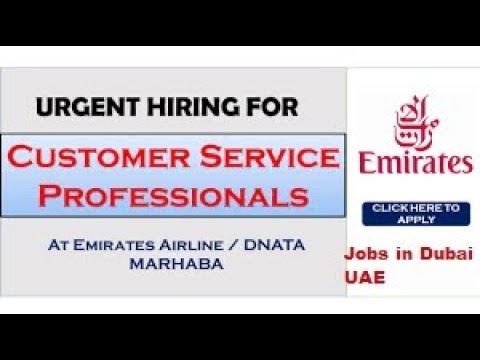 JOBS IN DUBAI | CUSTOMER SERVICE IN EMIRATES AIRLINE OPENINGS | Dubai Latest Job 2018