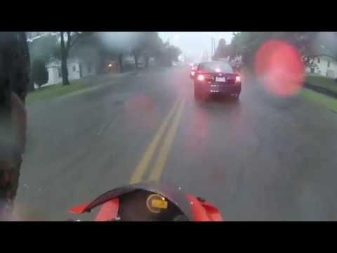 Heavy Rain and a Sportbike