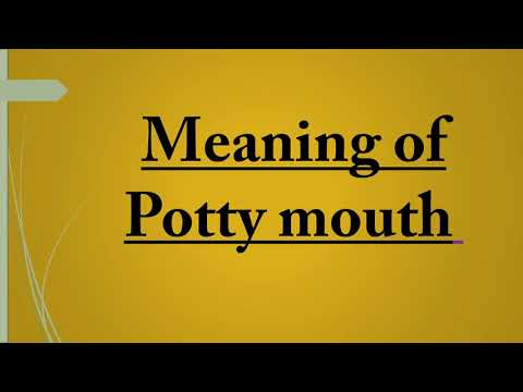 meaning of potty-mouth