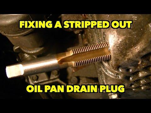 Fixing A Aluminum Stripped Oil Pan Drain Plug.