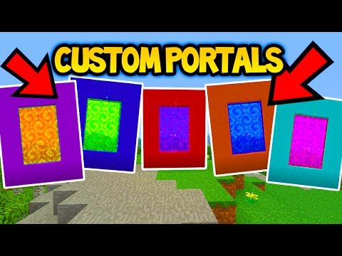 MINECRAFT TU55/TU56 CUSTOM PORTALS TUTORIAL! (Ps3/Xbox360/PS4/XboxOne/WiiU)