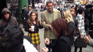 The Middle Cast signing and posing with fans at GMA  #TheMiddle100 in NYC