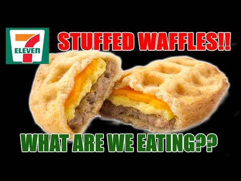 7-11 Pillsbury Sausage Egg & Cheese STUFFED Waffles - WHAT ARE WE EATING?? - The Wolfe Pit