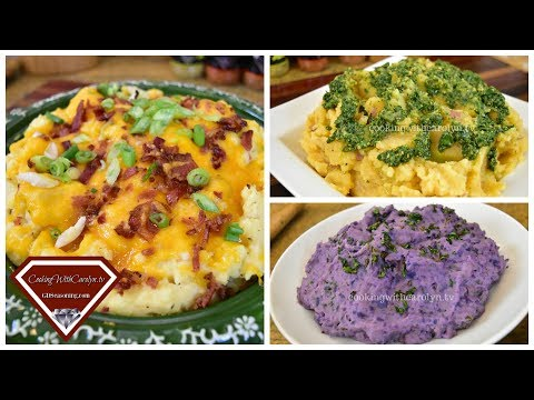 FULLY LOADED CHEESE & BACON MASHED POTATOES| VEGAN PESTO MASHED POTATOES| PURPLE MASHED POTATOES