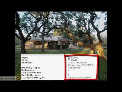 Georgetown TX Home for Sale 4123 Granada Dr - Wally Wilson 512-943-6527