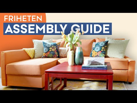 Slipcover for IKEA Friheten Sofa Bed - Comfort Works Assembly Instruction