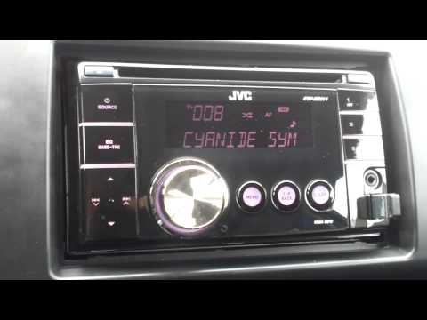 Suzuki Swift aftermarket radio with wheel adapter