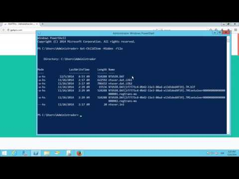 Windows PowerShell - Ver archvos ocultos con Get-ChildItem  -Hidden  -File