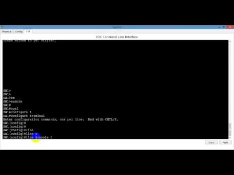 How to Assign Console Password on CISCO Switch