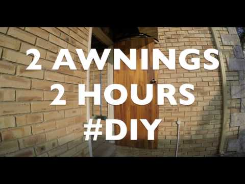 Outside door awnings | GoPro Time lapse | #DIY 4 March 2017