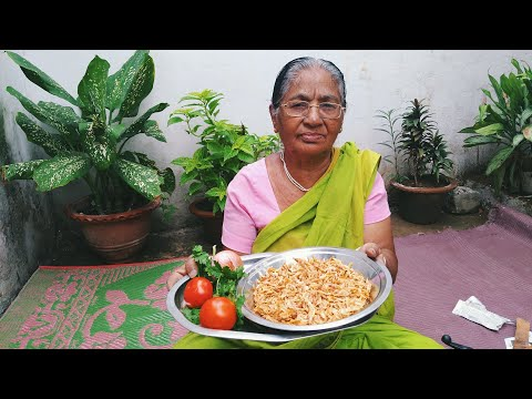 grandma's spicy dry prawns - dried shrimp (Jhinga) tasty recipe made by dadi | desi food recipes