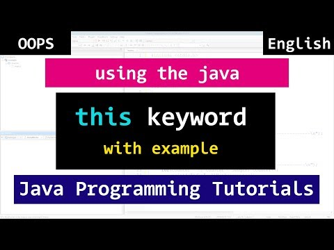 Java this Keyword with Example | Object Oriented Video Tutorial for Beginners