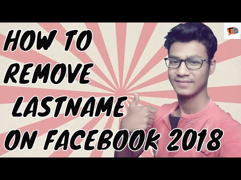 How to remove last name on facebook 2018|how to remove surname on facebook