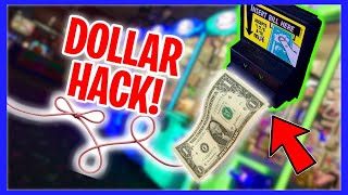 WILL A DOLLAR BILL ON A STRING WORK AT THE CLAW MACHINE???