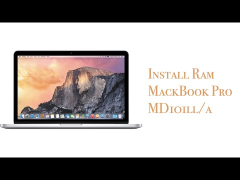 How to replace & upgrade memory ram MacBook Pro (MD101LL/A 2012)