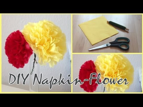 DIY easy&cute Napkin-Flower