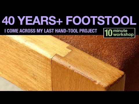40 Years+ Footstool #181