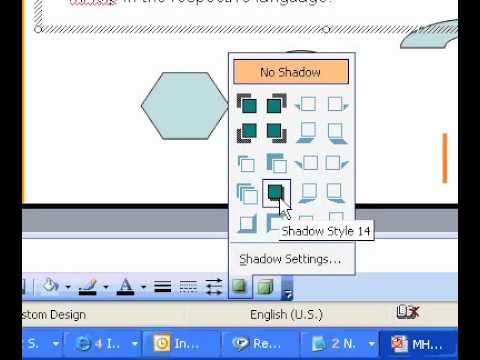Microsoft Office PowerPoint 2003 Add or remove a shadow