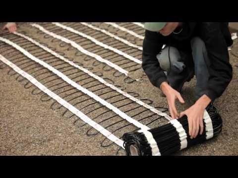 Danfoss Heating Mat - Heated Driveway Install