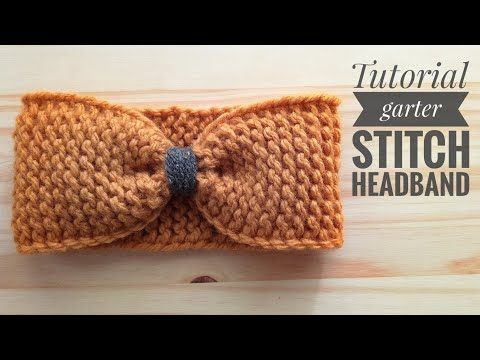 HOW TO MAKE A HEADBAND  IN GARTER STITCH - TUTORIAL STEP BY STEP FOR BEGINNER [LOOM KNITTING DIY]