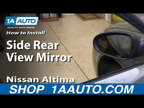 How To Install Replace Remove Side Rear View Mirror 2002-06 Nissan Altima
