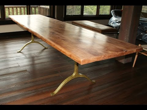 Rustic Wood Dining Table with Metal Legs Designs