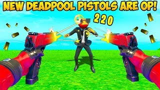 *NEW* DEADPOOL PISTOLS ARE EPIC!! - Fortnite Funny Fails and WTF Moments! #873