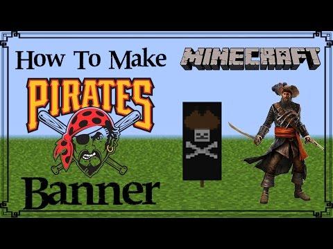 Minecraft | How to make Pirates Banner | Mangoman