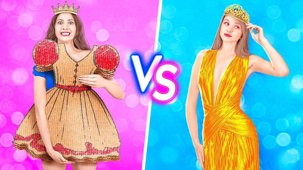 RICH PRINCESS VS POOR PRINCESS || || Funny Rich VS Broke Girl Situations by 123 GO Like!