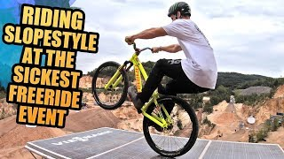 RIDING MTB SLOPESTYLE AT THE SICKEST FREERIDE EVENT!