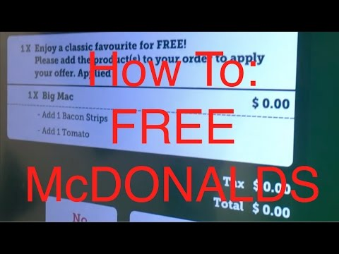 GETTING FREE FOOD FROM MCDONALDS