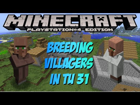 Minecraft PS4 & XBOX 1: How To Breed Villagers In TU 31 (Villager Farm)